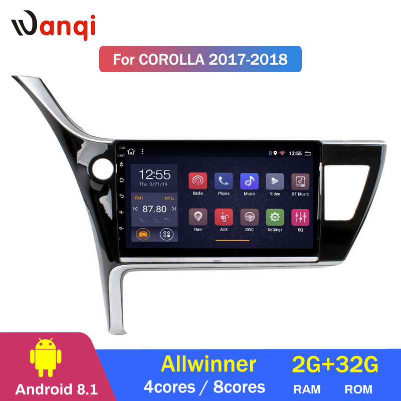 2G RAM 32G ROM 10.1 inch Android 8.1 Car GPS Navigation for Toyota Corolla Altis 2017-2018 Stereo System2G RAM 32G ROM 10.1 inch Android 8.1 Car GPS Navigation for Toyota Corolla Altis 2017-2018 Stereo System