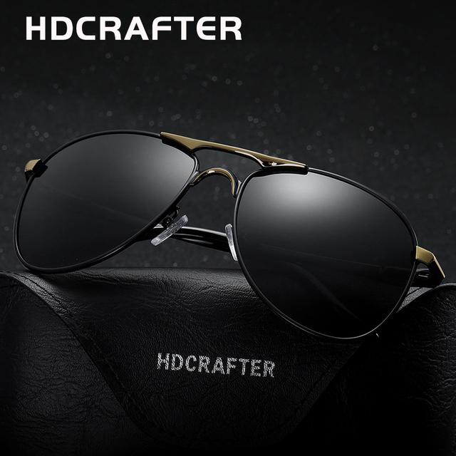 HDCRAFTER Высокое Качество Бренда Дизайнер Прохладно Солнцезащитные Очки Поляризованные Óculos de sol masculino 100% УФ-Защитой Очки Аксессуары