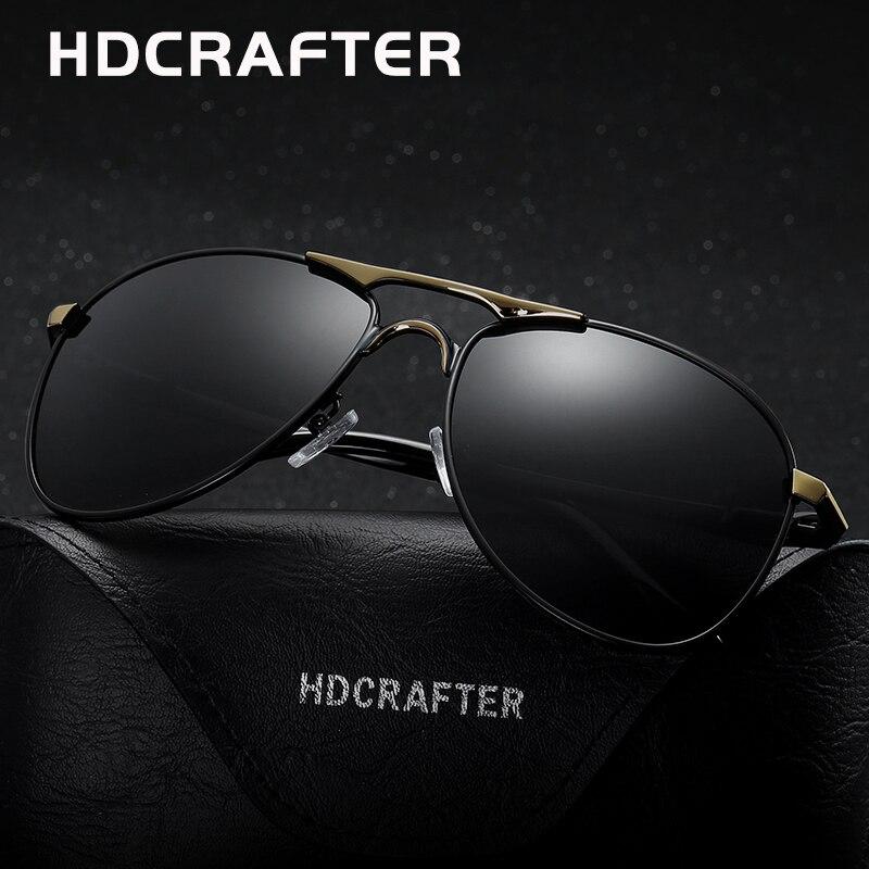 HDCRAFTER Haute Qualité Marque Designer Cool Lunettes De Soleil Polarisées Oculos de sol masculino 100% UV Protection Lunettes Accessoires