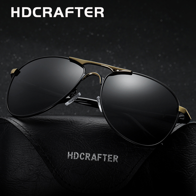 1c00aab74c5 HDCRAFTER classic polarized pilot sunglasses men uv400 brand retro men sun  glasses for male driving sunglasses