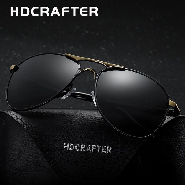 8cb2d53a30 HDCRAFTER classic polarized pilot sunglasses men uv400 brand retro men sun  glasses for male driving sunglasses