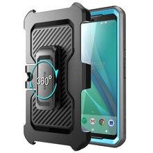 Supcase para google pixel 2 xl caso ub pro corpo inteiro áspero coldre clipe capa protetora com embutido protetor de tela
