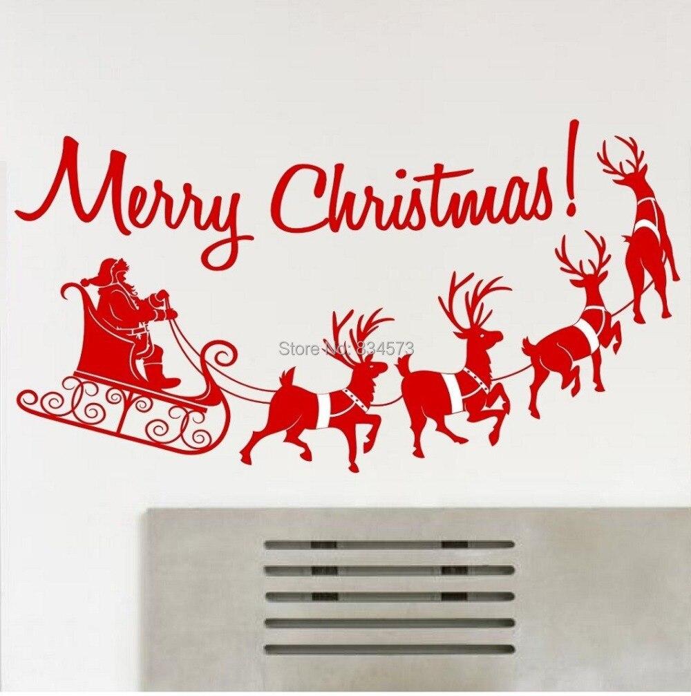 Buy merry christmas silhouette wall art for Christmas mural ideas