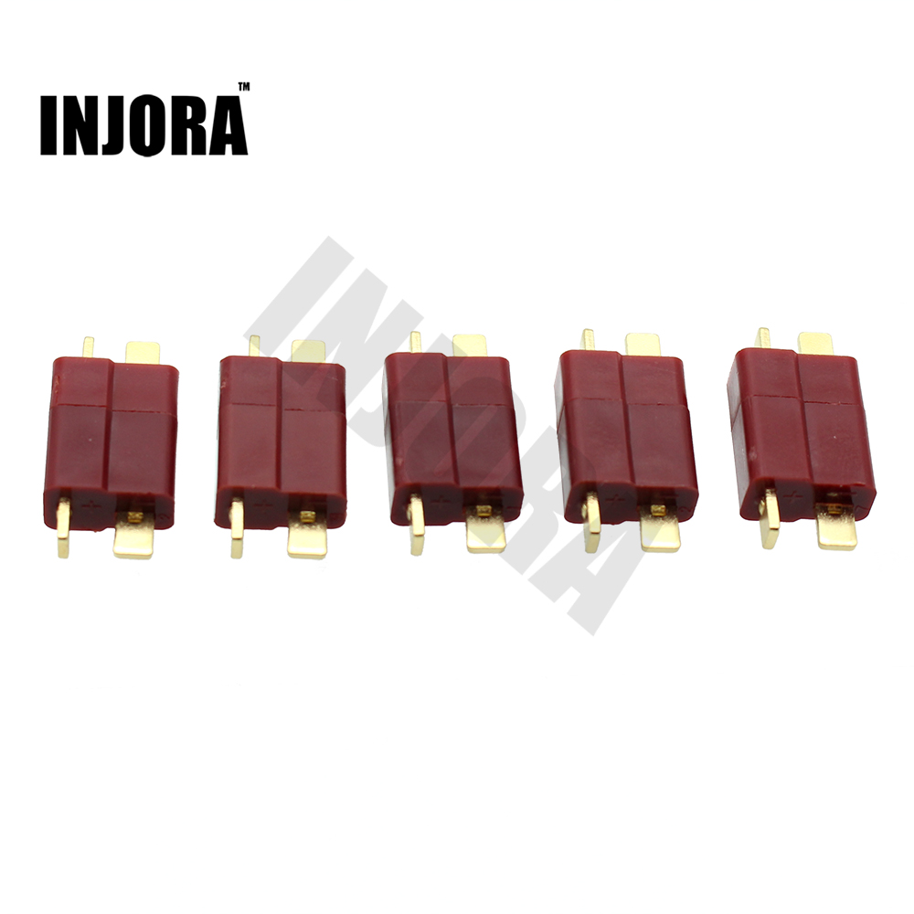 INJORA 10 Pairs T Plug Connectors Male Female for Lipo Battery RC Car Boat HelicopterINJORA 10 Pairs T Plug Connectors Male Female for Lipo Battery RC Car Boat Helicopter