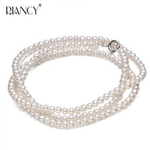 Fashion Long Multilayer Pearl Necklace Freshwater Women Jewelry For Gift