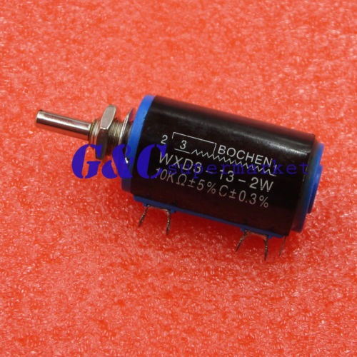 Active Components Electronic Components & Supplies Independent Wxd3-13-2w 10k Ohm Multiturn Wirewound Potentiometer Adjustable Resistor