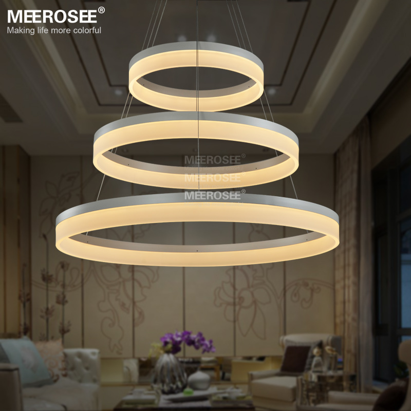 Buy led pendant lights modern round lamp light for living room pendelleuchte Best led light bulbs for living room