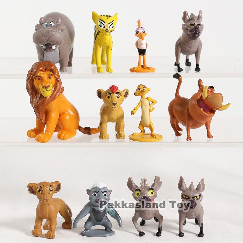 The Lion King Simba Mufasa Hyenas Pumbaa 9 PCS Action Figures Toys Cake Topper