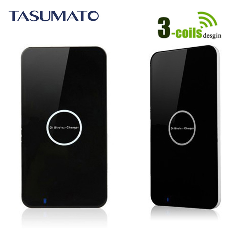 Portable 3 Coils Qi Wireless Charger fors