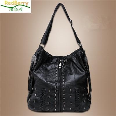 ФОТО New Arrival Women Big Handbag New Design Fashion Style Bag for Women Sheepskin Leather Famous Brand Soft Shoulder Bags  bolsas
