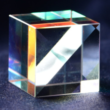 Оптическое стекло куб дефектный крест дихроическая зеркальная Призма Combiner сплиттер декор 18x18 мм прозрачная модульная игрушка Обучающие инструменты