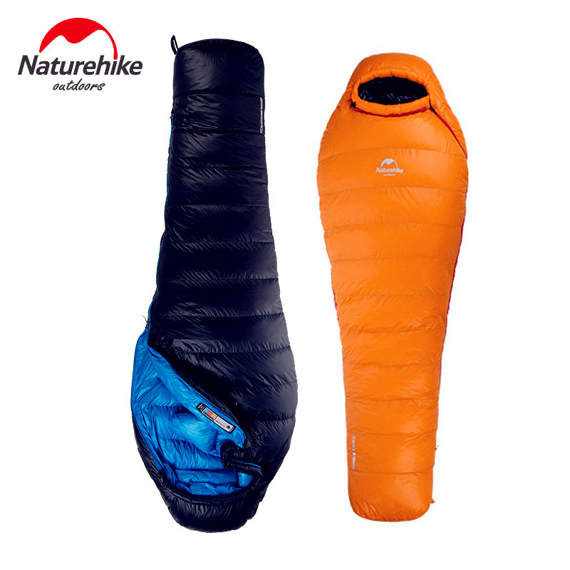NatureHike-New Super light Outdoor Down Mummy Type Duck Winter Sleeping Bag Single Sleeping Bag With Hooded FOR Cold Weather single prism with soft bag for leica type total stations