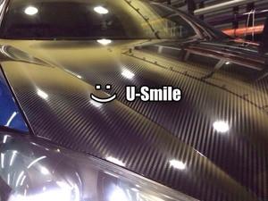 Image 1 - Alta qualidade super brilhante preto 5d fibra de carbono folha envoltório de vinil bolha ar livre para embrulho carro