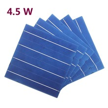 50 Pcs PV 4.5W Polycrystalline Silicon Solar Cell 156 * 156MM For DIY Solar Panel