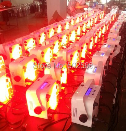 Free shipping 2016 hot mini housing battery powered 6*18w 6in1 rgbwa+uv wireless dmx led stage flat par can uplights 8pcs/Lot