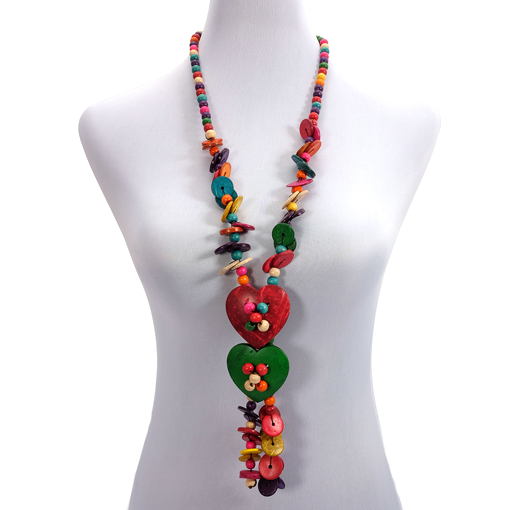 Long boho necklace - mala - amulet necklace - tassel