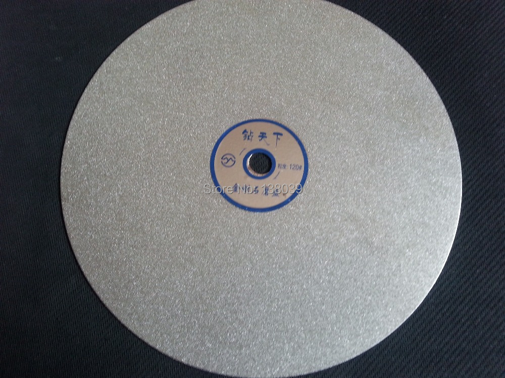 Diamond  Flat Grinding Lap Disc 10 INCH  For Gemstone , Gemstone Polishing Tools Disc Grit #120