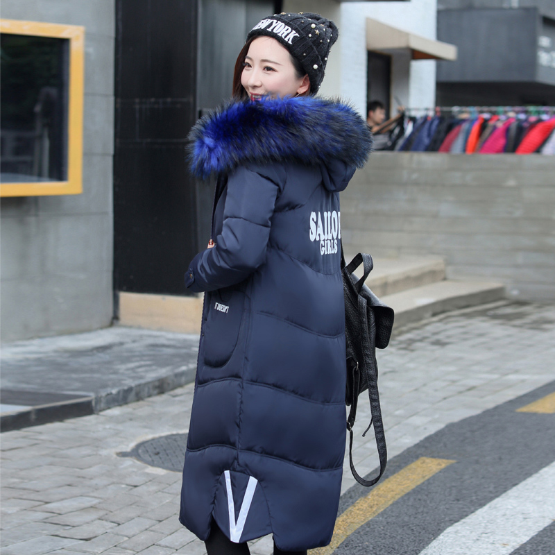 The new feather women's cotton coat thick large hooded cotton-padded jacket dress long winter warm coat for women inc new white black women s large l feather print seamed shift dress $79 013