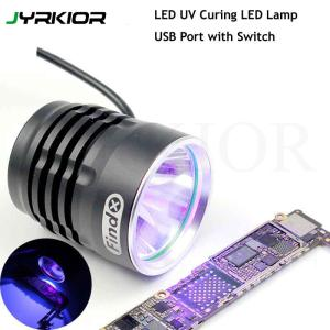 Jyrkior Adjustable 5V USB Shadowless UV Glue Curing Lamp USB LED Lamp Ultraviolet Green Oil Purple Light For iPhone PCB Repair