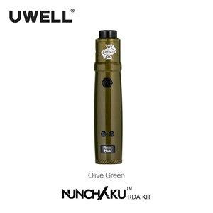 Image 2 - Uwell الننشاكو RDA كاتب عدة 80 واط مدعوم من واحد 18650 بطارية (بدون بطارية) E السجائر Vape عدة