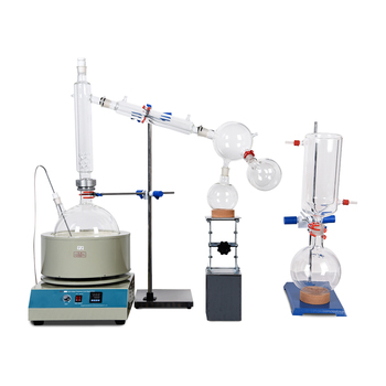 Lab Small  Equipment 10L Short Path Distillation With Stirring Heating Mantle Include Cold trap For Purification Of Plant Hemp
