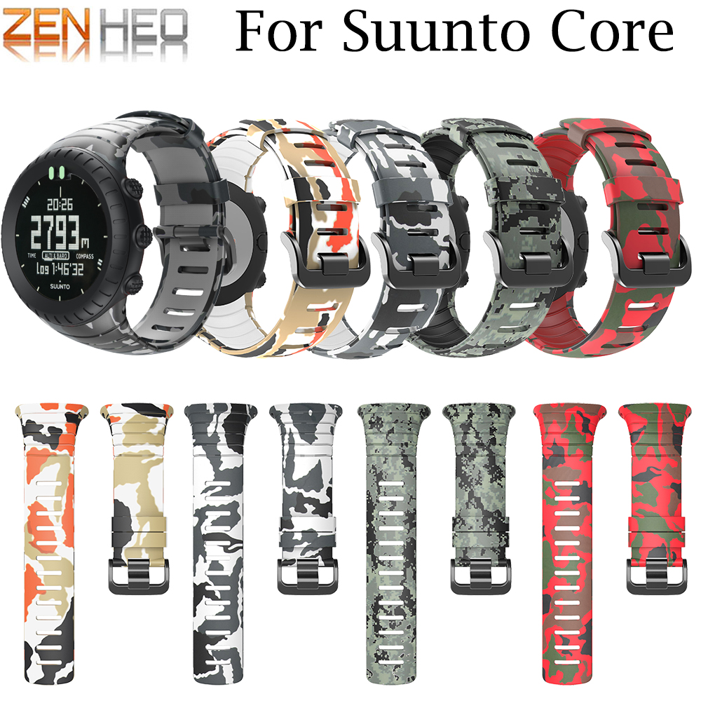 Band-Strap Rubber Suunto-Core Replacement Outdoor-Sports Smart for Luxury