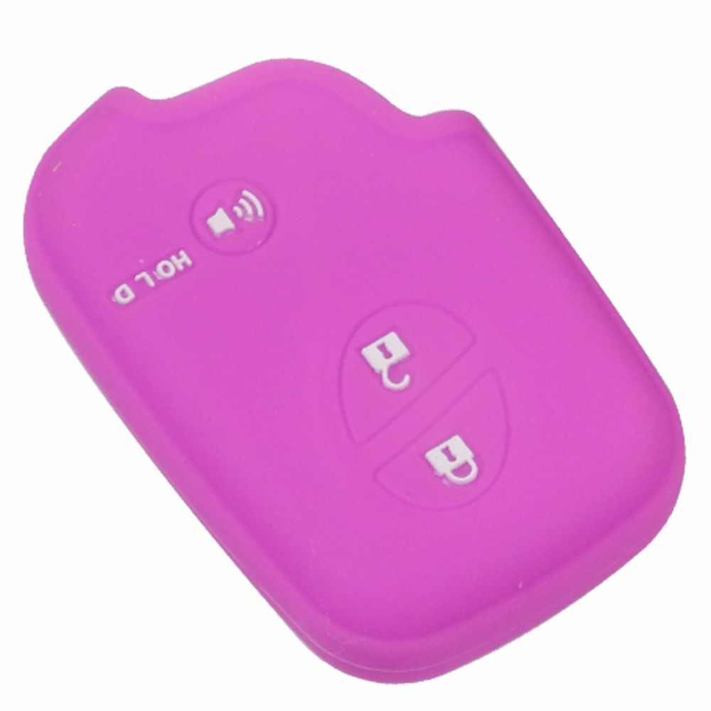 Jingyuqin zdalnego 3 przyciski z gumy silikonowej obudowa breloczka na klucze dla Lexus CT200h ES 300h IS250 GX400 RX270 RX450h RX350 LX570