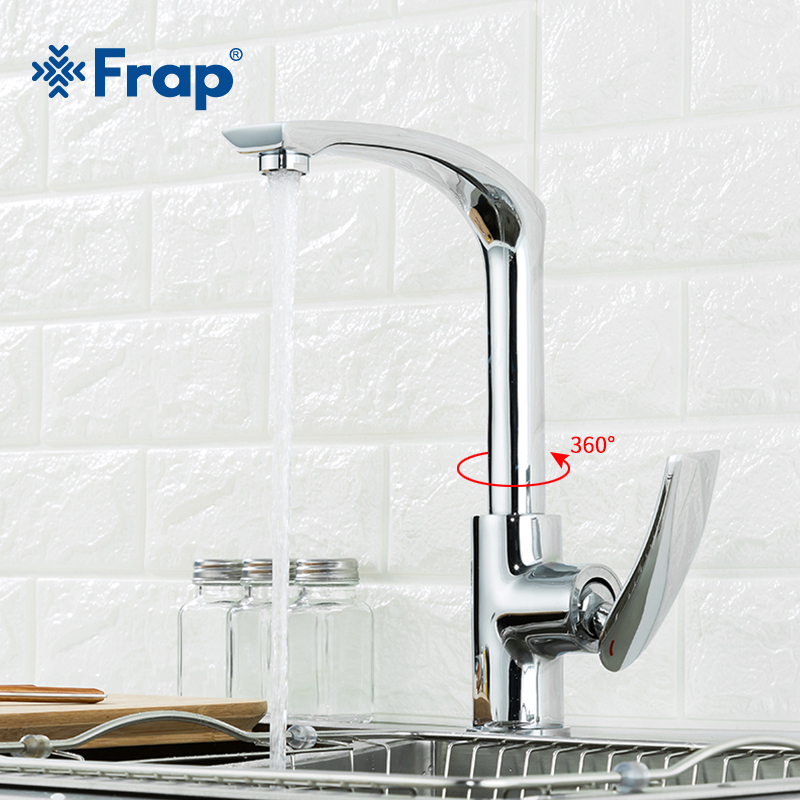 Frap Kitchen Faucetst Chrome Silver Bathroom Faucet Single Handle Kitchen Sink Single Lever Hot Cold Mixer Water Tap Y40068-5