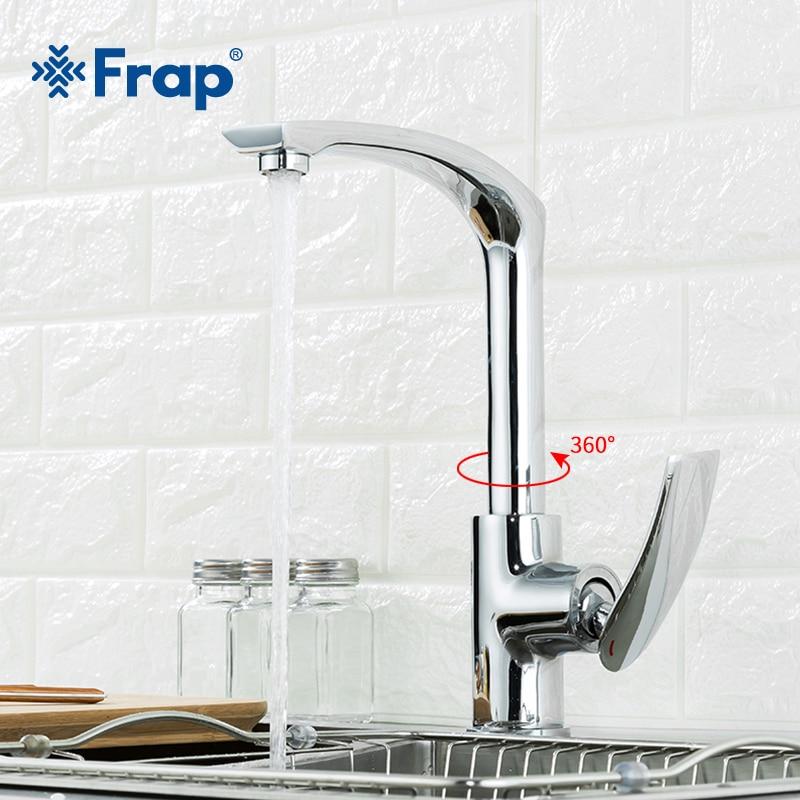 Frap Kitchen Faucetst Chrome Silver Bathroom Faucet Single Handle Kitchen Sink Single Lever Hot Cold Mixer Water Tap Y40068-5