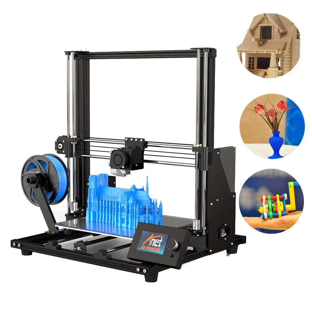 "11.8"" x 11.8"" x 13.8"" 3D Printer Pro Printing Large Print Size Full Color DIY Assembled Nozzle Heat Bed DJA99(China)"