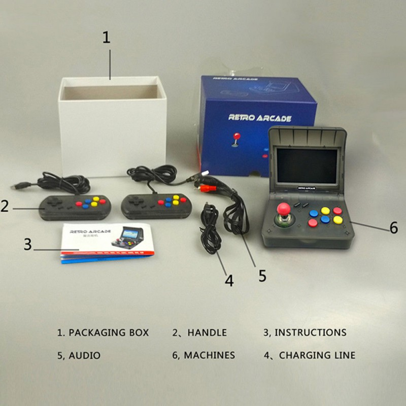 4.3 \ \ 'rétro Console de jeu portable construit en 3000 jeux vidéo Console de poche pour NEOGEO Aracade PSP FC Support TF carte SD