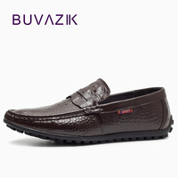2018 top quality men's driving shoes genuine leather handmade mens casual shoes moccasins italian loafers alligator men
