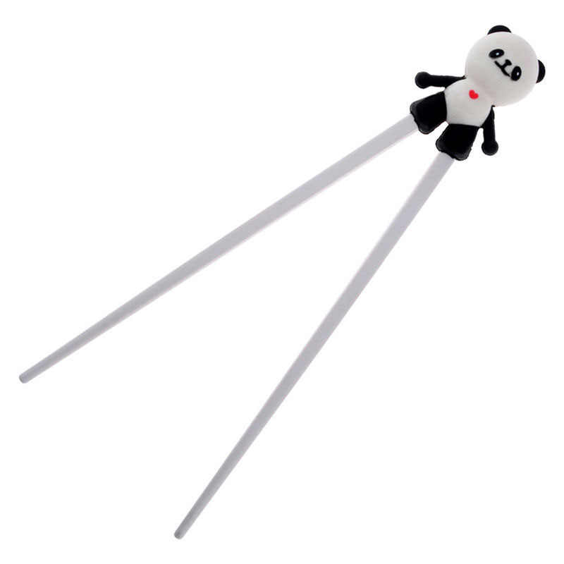 1 paar Silicone Leuke Cartoon Panda Helper Eetstokje Kinderen Baby Leerling Training Servies Chinese Eetstokje Helper Geschenken