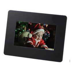 7 inch TFT LCD Multi-function Wide Screen Desktop Digital Photo Frame glass Photo Frame white black