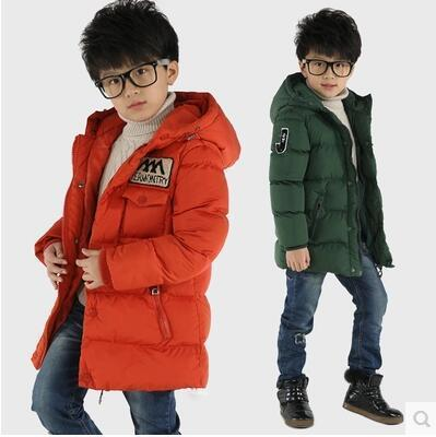 2016 New Winter Cotton-padded Warm Child Wadded Jacket  Kids Thickening Down Brand Big Boy M Design Coat Childrens clothing