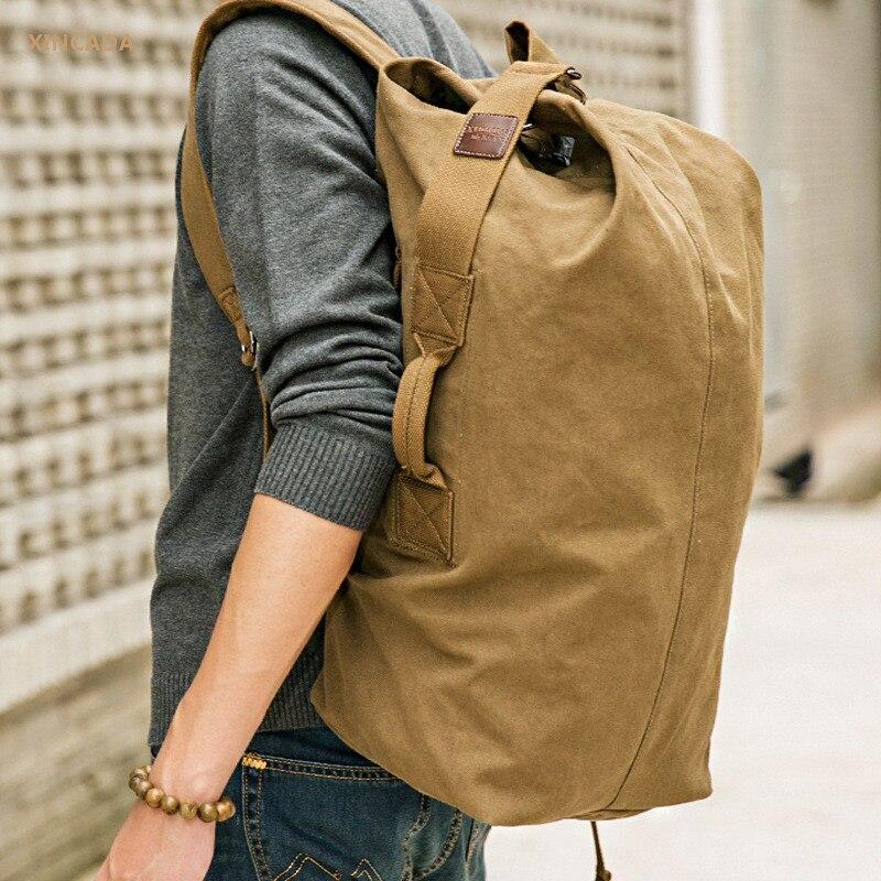 XINCADA Водонепроницаемый Холст Рюкзаки большой рюкзак вещевой сумки ведро сумки пользовательские Back Pack школьные рюкзаки Mochila Escolar