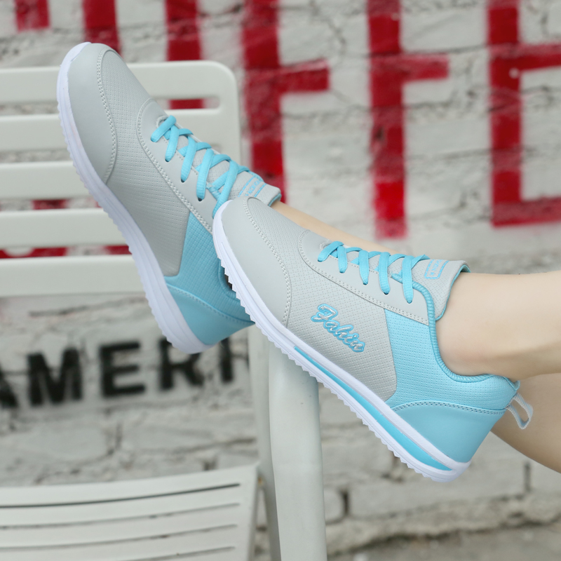 New high-quality Breathable Leather Ladies sports shoes lightweight running shoes women