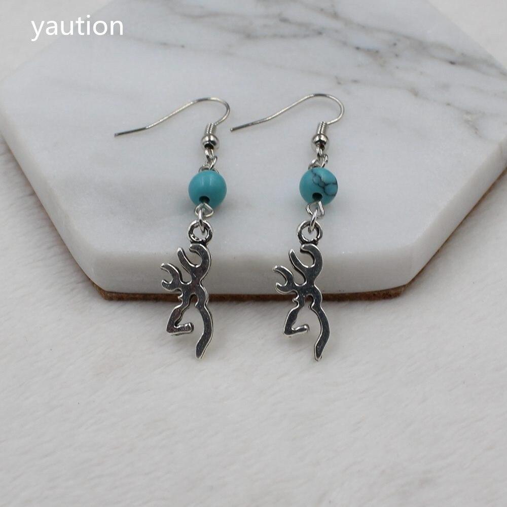 Buck Charm Earrings, Deer Earrings, Browning Jewelry ...