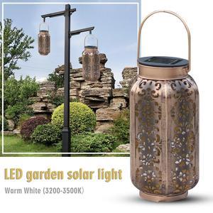 Image 5 - Luci da giardino solari impermeabili lampada da giardino a sospensione decorazione cortile Patio via luce a terra luce solare a Led prato bianco caldo