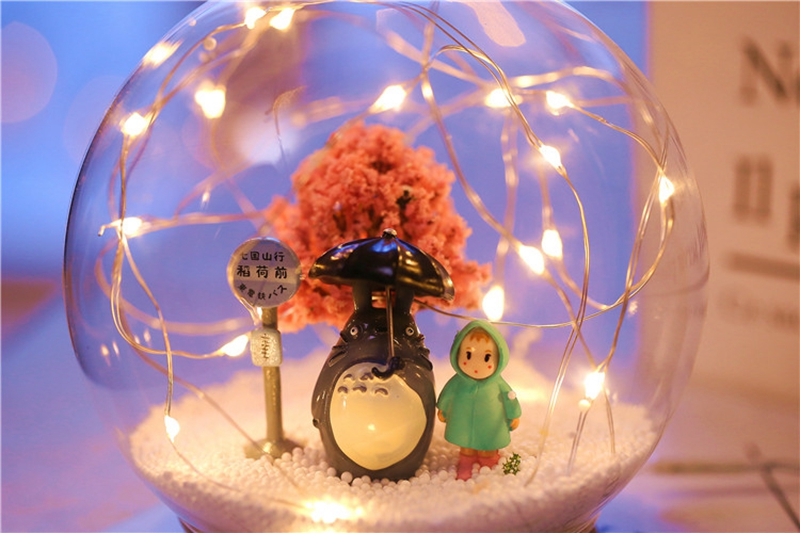 Creative LED Crystal Ball Design Table Lamp Room Decor Bedside Night Light For Girls Baby New Year Christmas Birthday Gift (26)