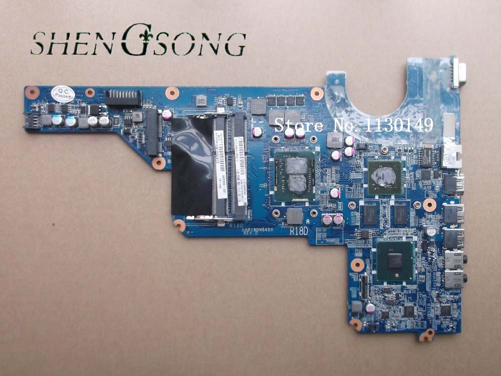 655985-001 Free Shipping 654117-001 for HP G4 G6 motherboard DAR18DMB6D0 with cpu I3-370M DSC HM55 520M 1G 100% full tested OK new automatic door closer mayitr household adjustable stainless steel hotel office surface mounted closing device for hardware