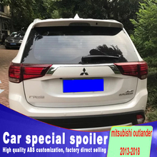 big high quality ABS material 2013 2014 2015 2016 2017 2018 for mitsubishi outlander spoiler by primer color paint sport