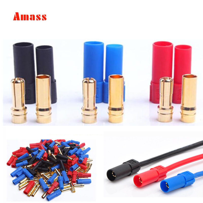 9Pairs/lot Amass XT150 Connector Adapter Male Female Plug 6mm Gold Banana Bullet Plug 150 High Rated Amps For RC LiPo Battery(China)
