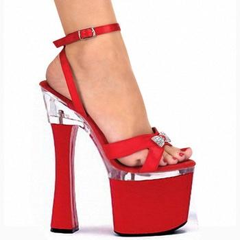 18 cm Dance high with waterproof stage model runways sandals bride wedding Dance Shoes