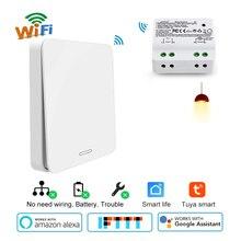 Wifi inteligentny przełącznik 2500W przekaźnik bezprzewodowy RF433 przełącznik kinetyczny samo zasilany sterowanie głosowe praca z Alexa Google IFTTT Smart Life