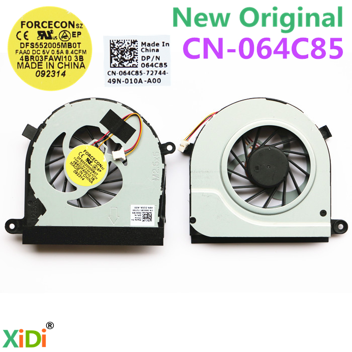NEW CPU COOLING FAN FOR DELL INSPIRON N7110 64C85 CPU COOLING FAN FORCECON DFS552005MB0T FAA0 DC5V 0.5A  P/N:064C85 ноутбук dell inspiron 3567