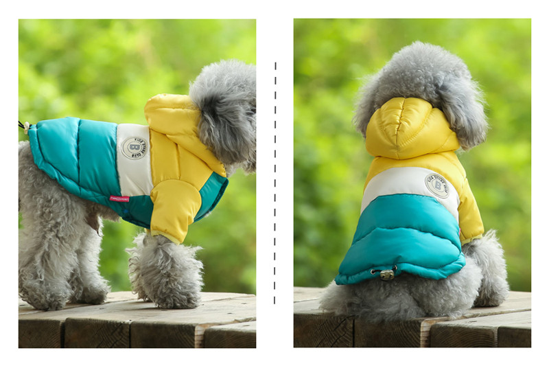 Waterproof and Hooded Dog Jacket with Leash Hole Ideal for Autumn/Winter Season 19