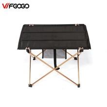 Wfgogo Уличные столы Кемпинг Портативный алюминиевый сплав таблицы Водонепроницаемый ультра-легкий прочный складной стол для пикника