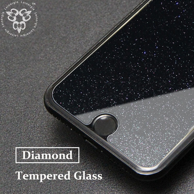 new product da4c2 22a68 US $3.79 |Lainergie HD Diamond Glitter Tempered Glass Screen Protector  Toughened Bling Protective Film Cover For Apple iPhone 7 / 7 Plus-in Phone  ...