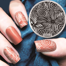 Nails Stamping Plate Nail-Art-Template-Tools-Accessories Flowers Lace Twist YZWLE08 1-Pc